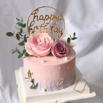 乐食锦网红鲜花生日蛋糕玫瑰满天星定制小清新女神范送闺蜜女友全国