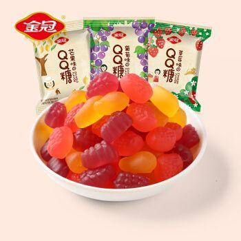 金冠 qq糖小零食软糖  儿童橡皮糖果布丁果汁水果糖网