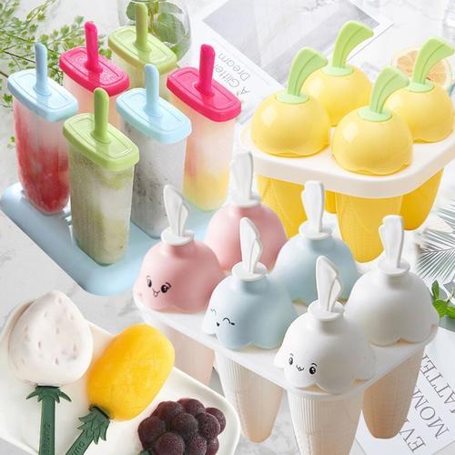 【4只-12只装】diy自制雪糕冰淇淋冰棍冰激凌模具冰格