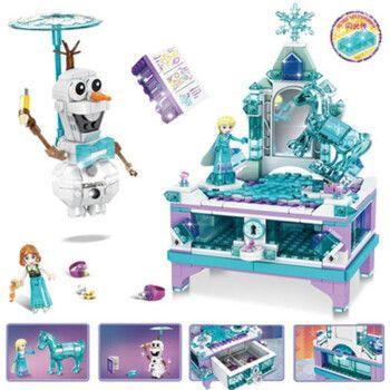 冰雪奇缘积木拼装兼容乐高艾莎爱莎公主城堡女孩玩具