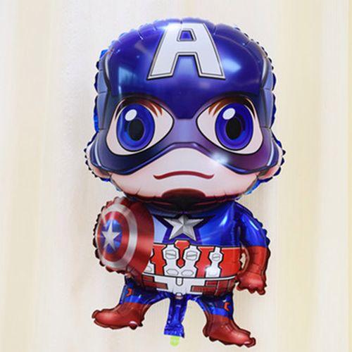 复仇者联盟铝膜气球 钢铁侠超人美国队长盾牌卡通英雄
