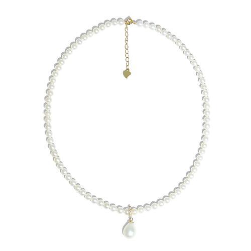 珍珠泪水滴项链(小珠款)一款多戴