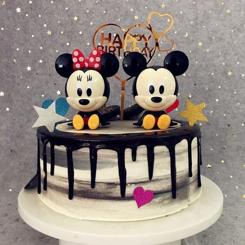 米奇米妮蛋糕装饰摆件网红创意儿童生日玩具米老鼠