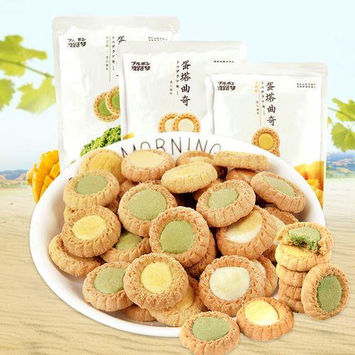 波路梦普奇曲奇 芝士/抹茶/芒果味蛋塔蛋挞饼干小包装