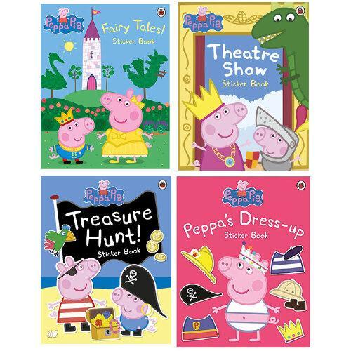 【预订】peppa pig小猪佩奇贴纸书4册套装 童话/寻宝/剧场 英文原版