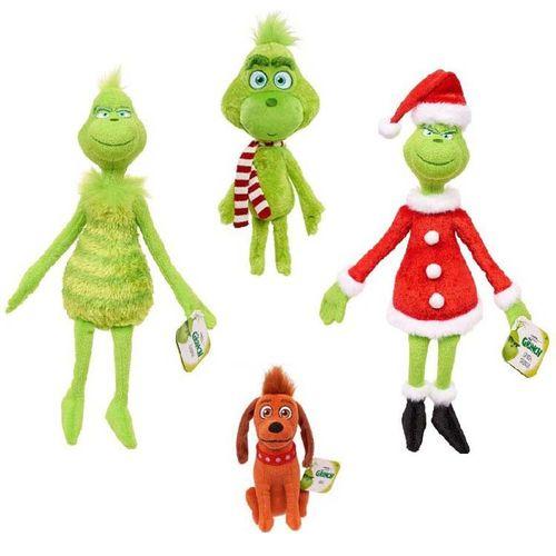 工厂直销圣诞怪杰grinch毛绒玩具绿毛怪格林奇儿童