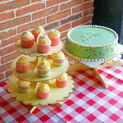 蛋糕摆台生日派对甜品台展示架一次性架子ins餐具套装