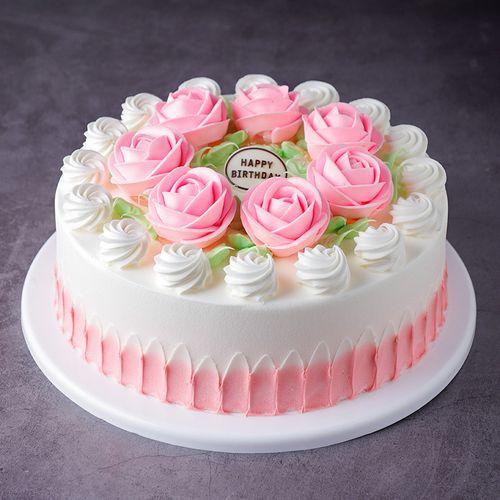 奶油花卉蛋糕模型仿真2021新款网红生日假蛋糕塑胶