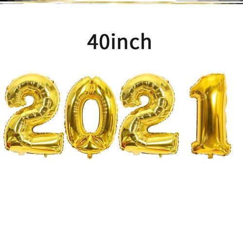 创意立柱数字场景新年快乐生日红造型网40寸2021元旦