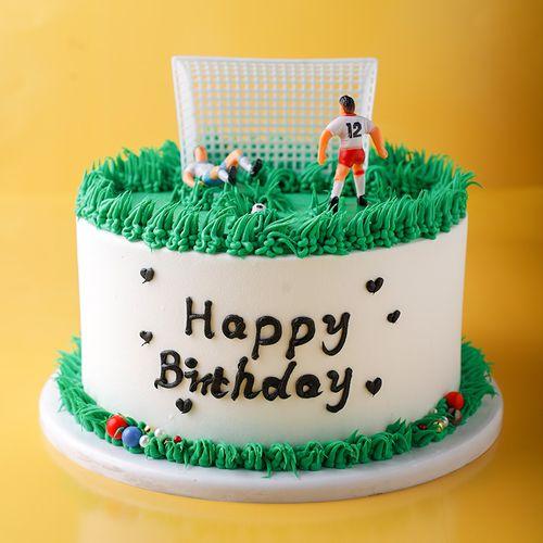 男士喜欢的足球款 生日蛋糕模型仿真2020新款网红假蛋糕样品t171
