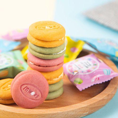 试吃装【好吃再来】20包 马卡龙夹心饼干白桃味