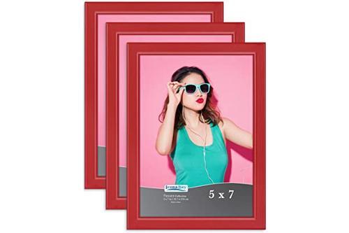 icona bay 5x7 相框,彩色实木相框,适用于照片,pizzazz collection