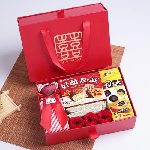 小婚嫁 结婚喜糖礼盒成品含糖 中式婚礼 创意伴手礼