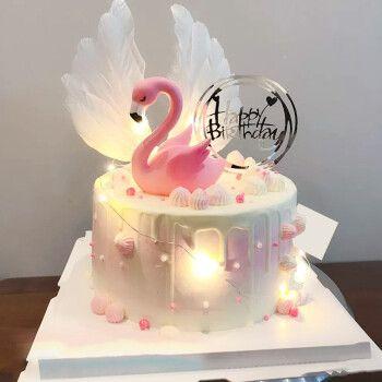 乐食锦网红生日蛋糕创意可爱卡通预定儿童节男孩女孩闺蜜艾莎公主全国