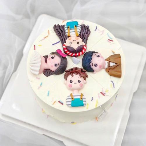 中秋节蛋糕装饰摆件网红ins 创意一家四口蛋糕装饰团圆派对插牌