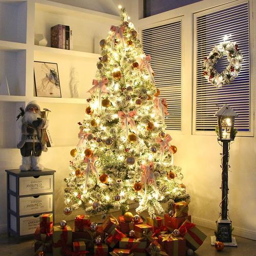 圣诞树/植套餐圣诞树圣诞节4米//装饰3大型商场绒1.