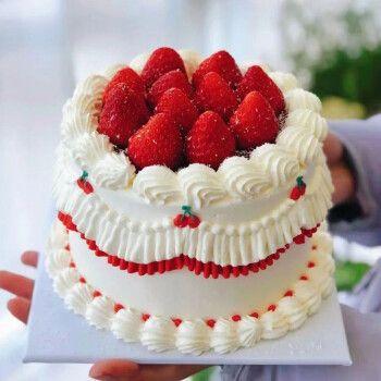 臻鸣网红抖音卡通儿童预定水果生日蛋糕同城配送新鲜现做定制创意送