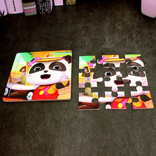 潮宝宝巴士卡通木质拼图幼儿园儿童宝宝早教益智玩具