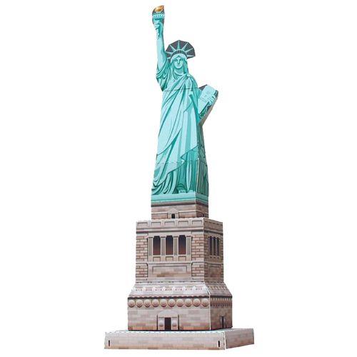 纸质模型制作diy手工益智玩具美国纽约自由女神像3d立体建筑折纸
