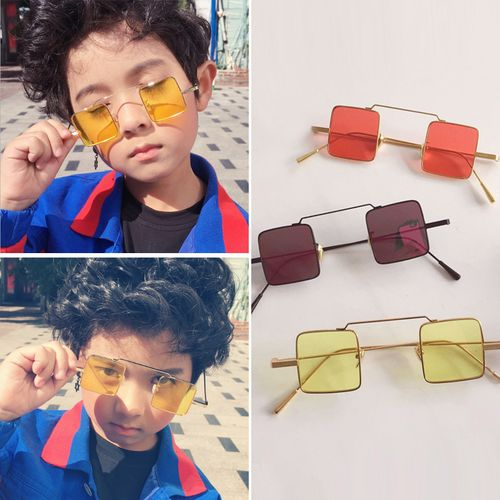 儿童装饰眼镜墨镜男童小孩太阳镜女防嗮眼镜潮个性儿童墨镜 男童