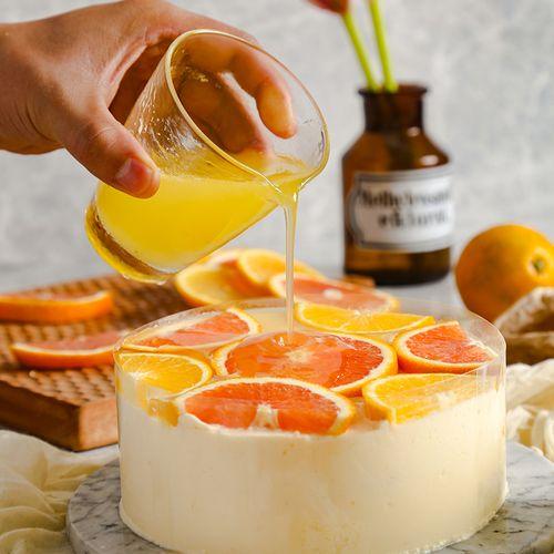 【咸宁橙子季新品】橙橙慕斯蛋糕,q弹嫩滑好吃不胖 慕斯橙橙2磅