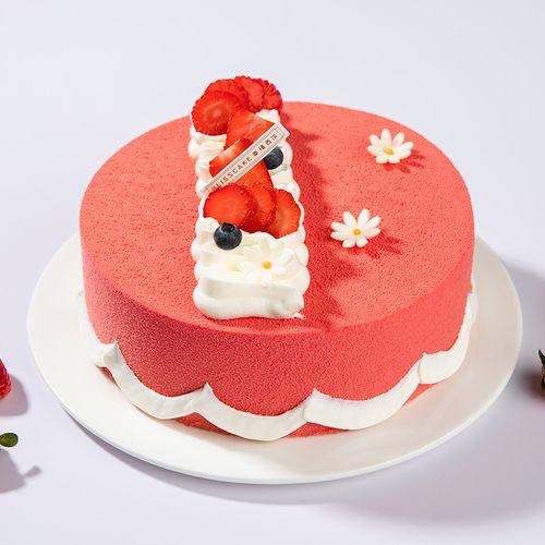 【巧克力冰淇淋慕斯】草莓慕斯搭配巧克力冰淇淋夹心