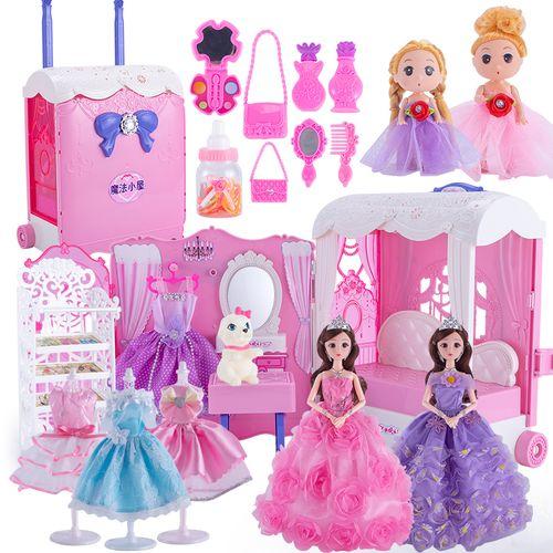 嘿喽芭比洋娃娃梦想豪宅套装超大礼盒公主玩具女仿真
