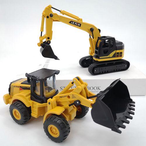 儿童玩具车挖掘机工程车男孩宝宝耐摔小能手手摇挖机