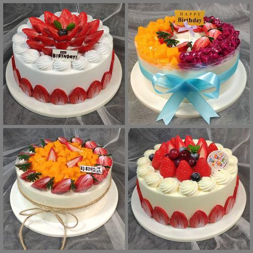 新款网红仿真蛋糕模型蛋糕样品水果蛋糕模型生日蛋糕模具卡通模型