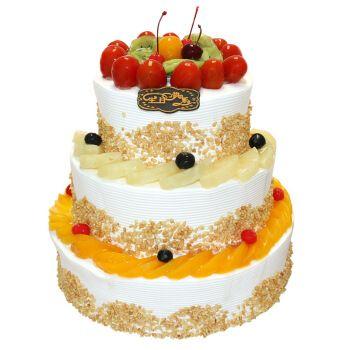 西西麦诺 三层生日蛋糕预定 多层水果蛋糕全国同城配送 稳稳的幸福