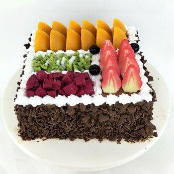 芙瑞多 方形水果生日蛋糕8寸同城配送当日送达预定网红定制天津