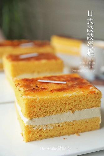 【0531】【日式敲敲蛋糕】软绵的蛋糕胚,细腻丝滑的淡
