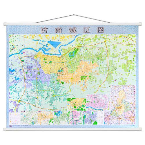 2m 详细城区街道图 医院公园楼盘单位显示 济阳章丘莱芜区城区