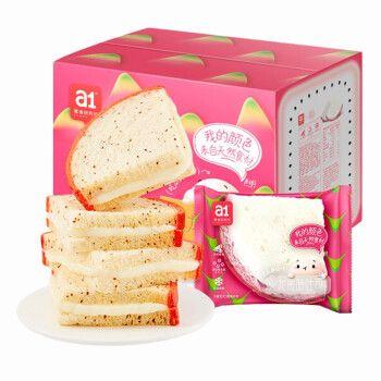 【a1西瓜吐司/火龙果吐司/哈密瓜吐司】爱逸新品面包整箱早餐营养学生